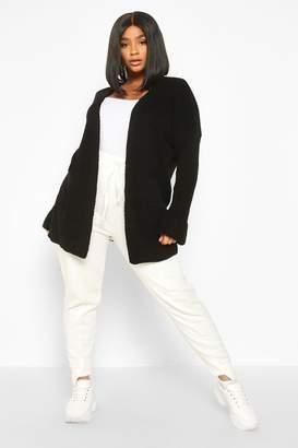 boohoo Plus Pocket Front Slouchy Cardigan