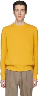 Etro Yellow Wool Crewneck Sweater