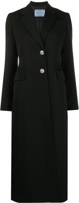 Prada Single-Breasted Midi Coat