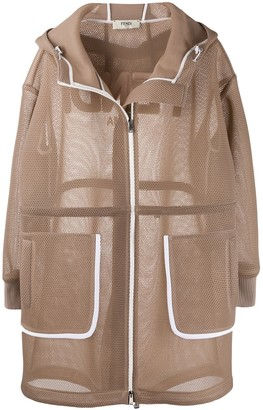 Fendi Mesh Hooded Coat