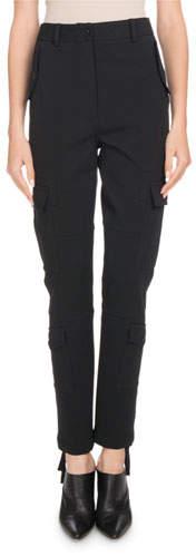 Altuzarra Lyn High-Rise Straight-Leg Cargo Pants