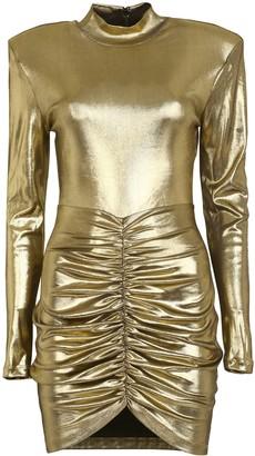 Rotate by Birger Christensen Minnie Lame Jersey Mini Dress