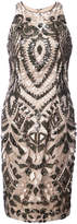 Aidan Mattox beaded fitted dress