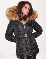 Lipsy Love Michelle Keegan Reversible Puffer Coat