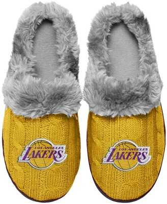 Women's Los Angeles Lakers Cable Knit Slide Slippers