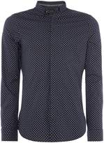 Armani Exchange Long Sleeve Geo Print Shirt