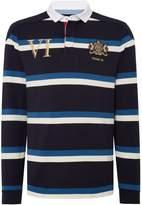 Howick Men's Decker Printed Stripe Long Sleeve Rugby Shirt