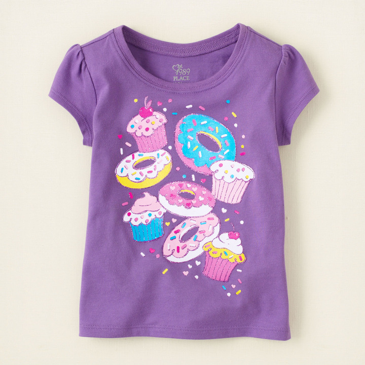 Children's Place Donut cupcake graphic tee