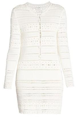 Saint Laurent Jane Crochet Mini Dress