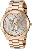 Michael Kors MK3590 Gold Tone Stainless Steel Gold Dial Quartz 39mm Women