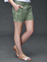 Gap Side-stripe girlfriend chino shorts