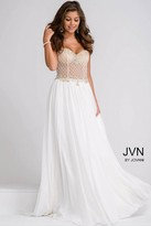 Jovani Beaded Top with Chiffon Skirt Prom Dress JVN47719
