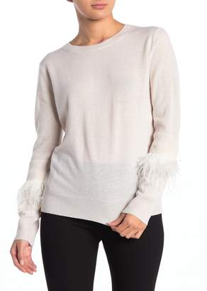 Magaschoni M Ostrich Feather Cashmere Pullover