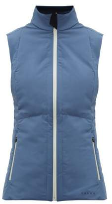 Falke Caro Zip Up Technical Shell Gilet - Womens - Blue