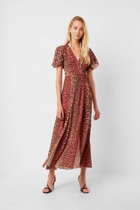 French Connection Annalia Crepe Midi Tea Dress