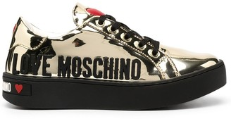 Love Moschino Metallic Low-Top Sneakers