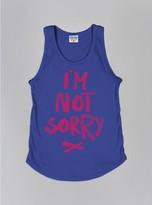 Junk Food Clothing Kids Girls I'm Not Sorry Tank-reef-s