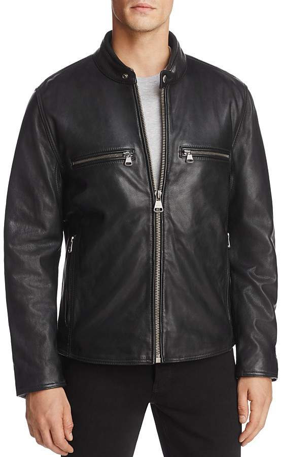 Andrew Marc Bedford Leather Moto Jacket