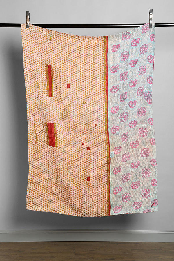 Urban Outfitters Anchal X Urban Renewal Patched Sari Quilt