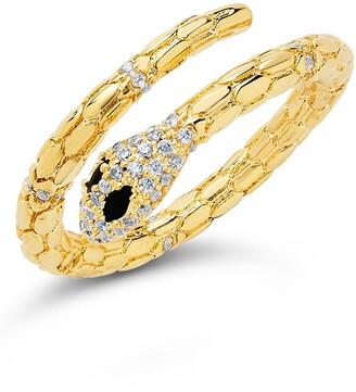 Sterling Forever 14K Gold Plated Open Textured Snake Ring