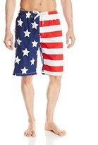 Kanu Surf Men's American Flag Swim Trunks