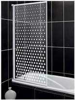 Aqualux Aqua 3 Bath Screen With Spotted Glass Pattern