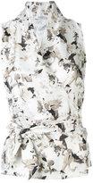 Max Mara foliage-print top - women - Silk - 40