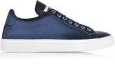 Jil Sander Blue Satin Lace Up Sneaker