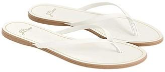 J.Crew New Capri Leather Flip-Flop (White) Women's Shoes