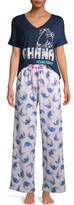 Disney Disney's Stitch Women's and Women's Plus Short Sleeve Top and Pants Sleep Set