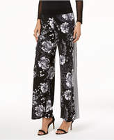 INC International Concepts I.n.c. Petite Floral-Print & Striped Wide-Leg Pants, Created for Macy's