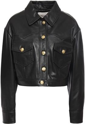 Maje Bacchu Cropped Leather Jacket