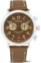 Shinola The Runwell Chronograph 41mm Stainless Steel and Leather Watch