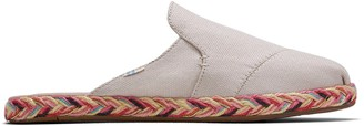 Toms Natural Shimmer Canvas Women's Nova Slip-On Espadrilles