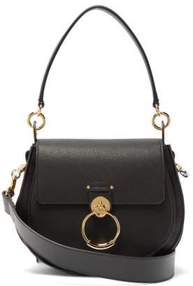 Chloé Tess Medium Grained-leather Cross-body Bag - Womens - Black
