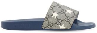 Gucci Logo Star Print Slide Sandals