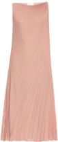 Raey Pleated knot-shoulder dress
