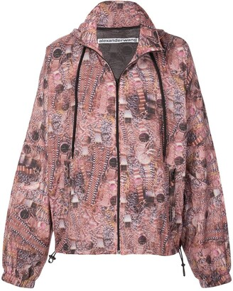Alexander Wang Watch Print Track Jacket