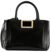 Roger Vivier Ines East-West Small Tote Bag, Black