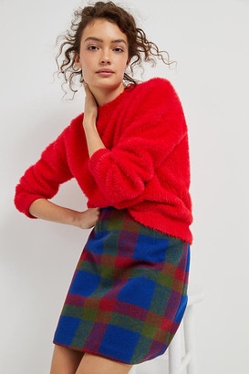 4SI3NNA the Label Joy Eyelash Sweater By in Red Size S