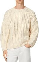 Sandro Men's Highlands Hand-Knit Sweater -White