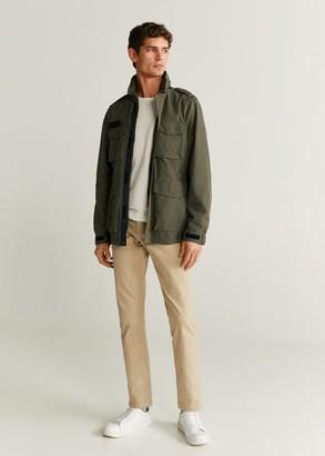 MANGO Concealed hood field jacket