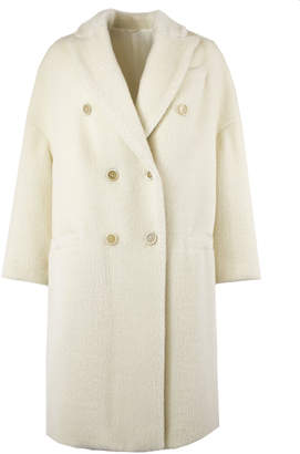 Brunello Cucinelli White Double-breasted Coat