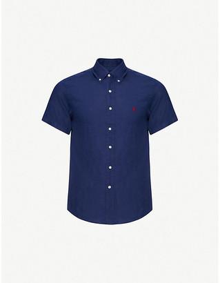 Polo Ralph Lauren Logo-embroidered short-sleeve linen shirt