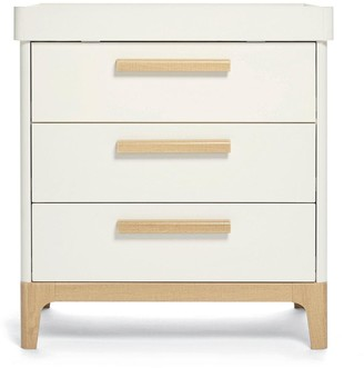 Mamas and Papas Caprio Furniture Set Cot & Dresser - White/Natural