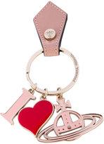 Vivienne Westwood 'I heart' logo keyring - unisex - Leather/metal - One Size