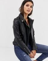 Barneys New York Barneys Originals leather biker jacket with mock croc panels