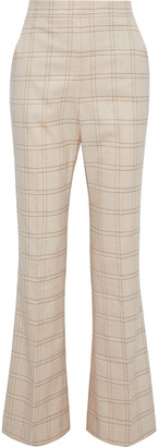 Rebecca Vallance Twiggy Checked Woven Flared Pants