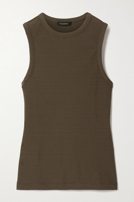 Gold Sign Nineties Ribbed Stretch-jersey Tank - Green