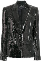 Unconditional two-tone sequinned jacket